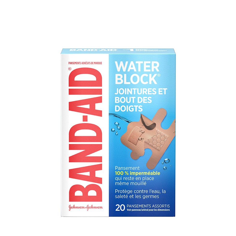pansements band-aid water block pour jointures et bout des doigts