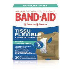 Pansements en tissu flexible BAND-AID® pour jointures et bout des doigts