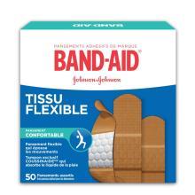 Boîte de pansements adhésifs BAND-AID® en tissu flexible