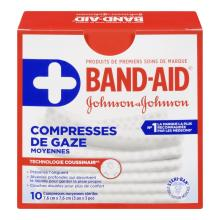 Compresses de gaze moyennes BAND-AID®