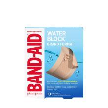 paquet de pansements band-aid water block de grand format