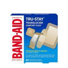 paquet de pansements légers et respirants band-aid tru-stay