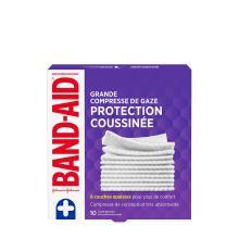 paquet de 10 grandes compresses de gaze band-aid