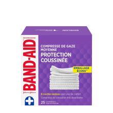 emballage écono de 25 compresses de gaze moyennes band-aid
