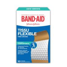 Pansements en tissu flexible BAND-AID®, Extra larges