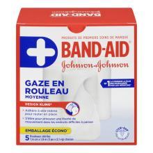 Gaze en rouleau BAND-AID®, moyenne, multi-rouleaux