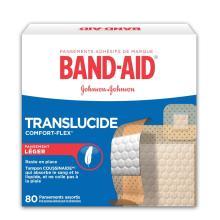 Pansements adhésifs en plastique BAND-AID® COMFORT-FLEX®, boîte de 80 u.