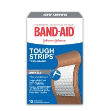 Pansements adhésifs résistants BAND-AID® TOUGH STRIPS®, très grands