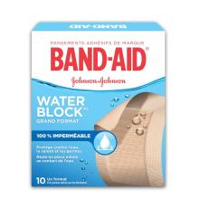 Pansements imperméables BAND-AID® WATER BLOCK PLUS®, boîte de grands pansements