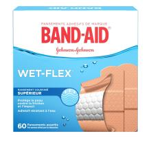 BAND-AID® WET-FLEX®, boîte de pansements assortis