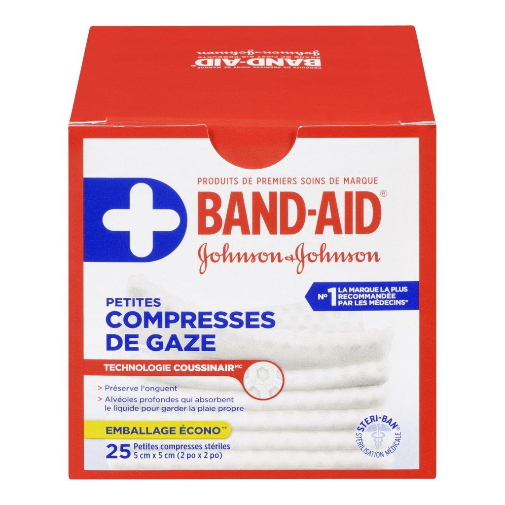 Petites compresses de gaze BAND-AID®, stériles