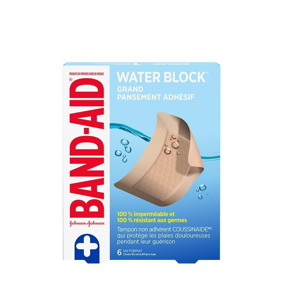 grands pansements adhésifs band-aid water block