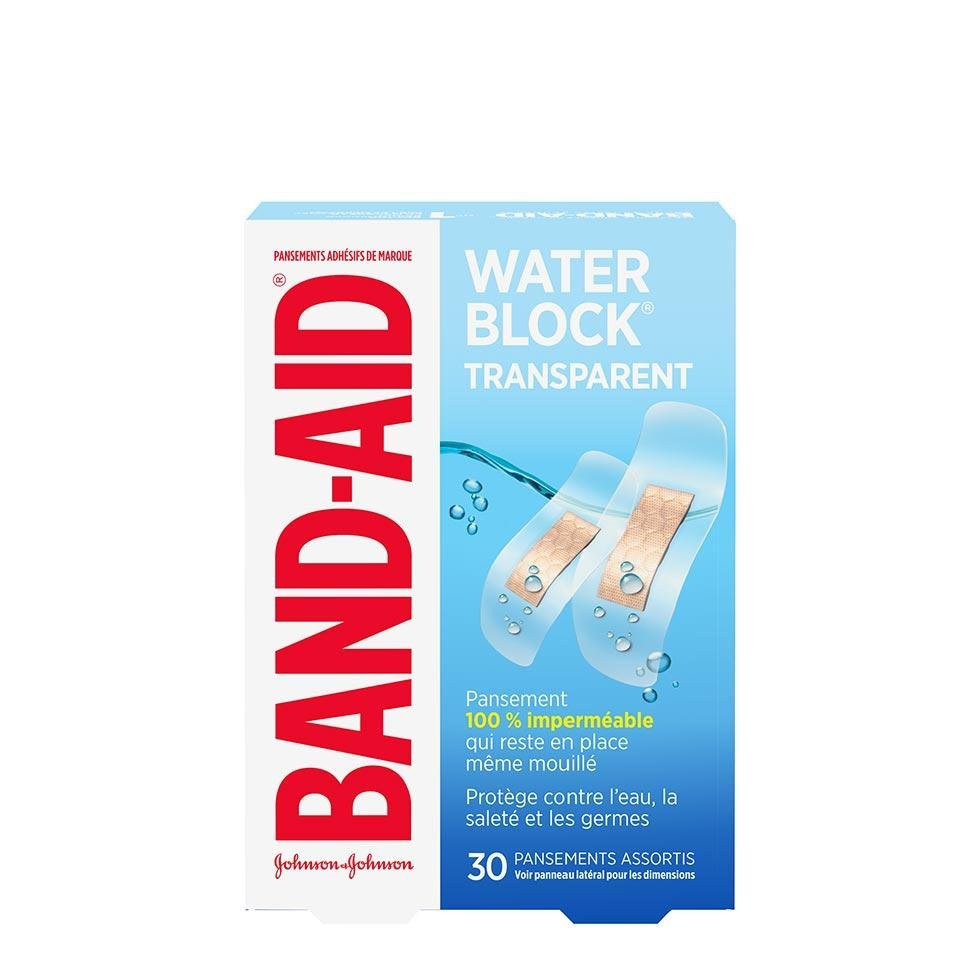 pansements transparents assortis band-aid water block