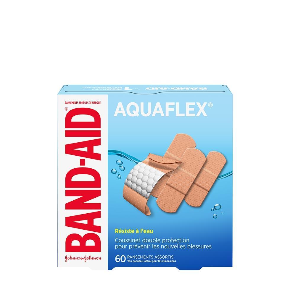 paquet de pansements assortis band-aid aquaflex