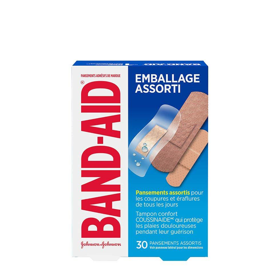 emballage assorti de pansements band-aid