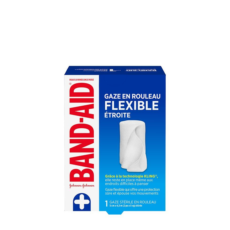 paquet d'un rouleau de gaze stérile flexible band-aid