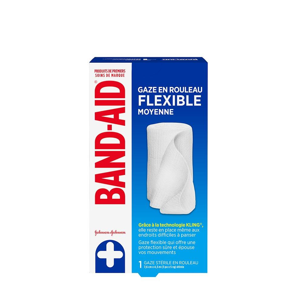 paquet de gaze en rouleau flexible band-aid