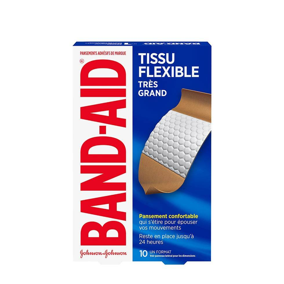 paquet de très grands pansements band-aid en tissu flexible