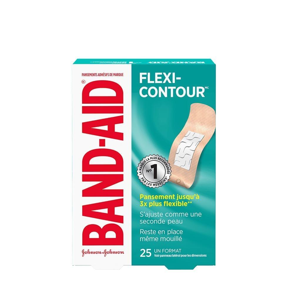 paquet de 25 pansements band-aid flexi-contour