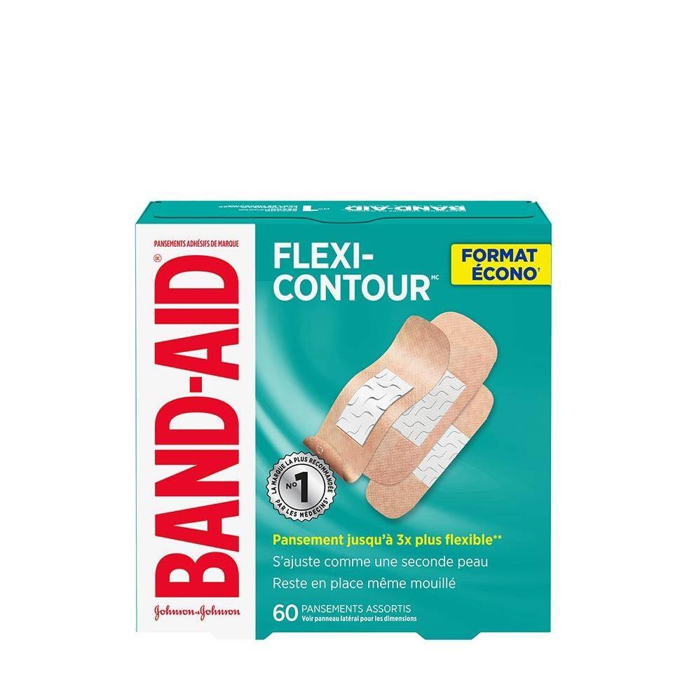 emballage écono de 60 pansements band-aid flexi-contour