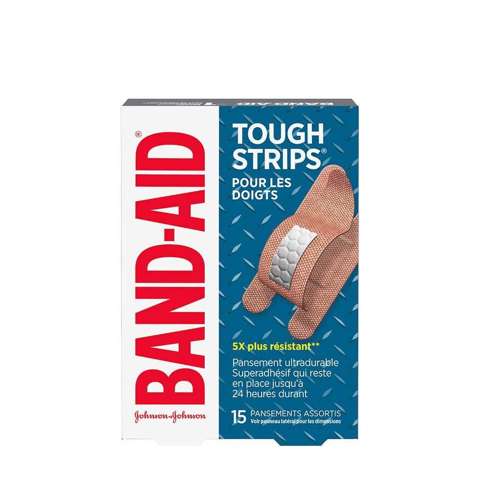 paquet de pansements assortis band-aid pour les doigts