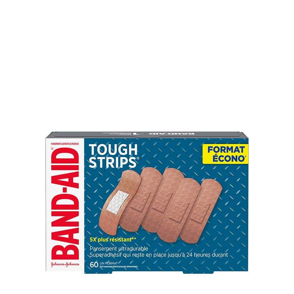 emballage écono de 60 pansements band-aid tough strips