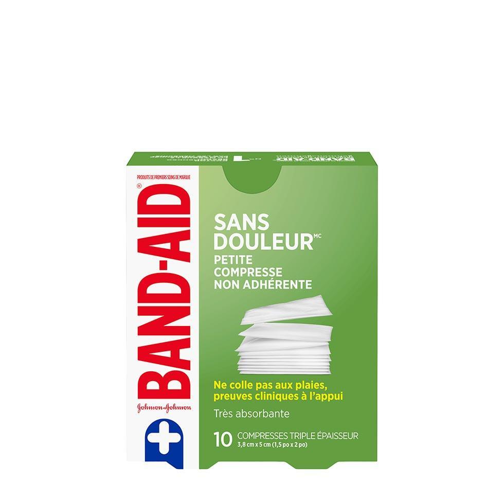 paquet de 10 petites compresses non adhérentes band-aid