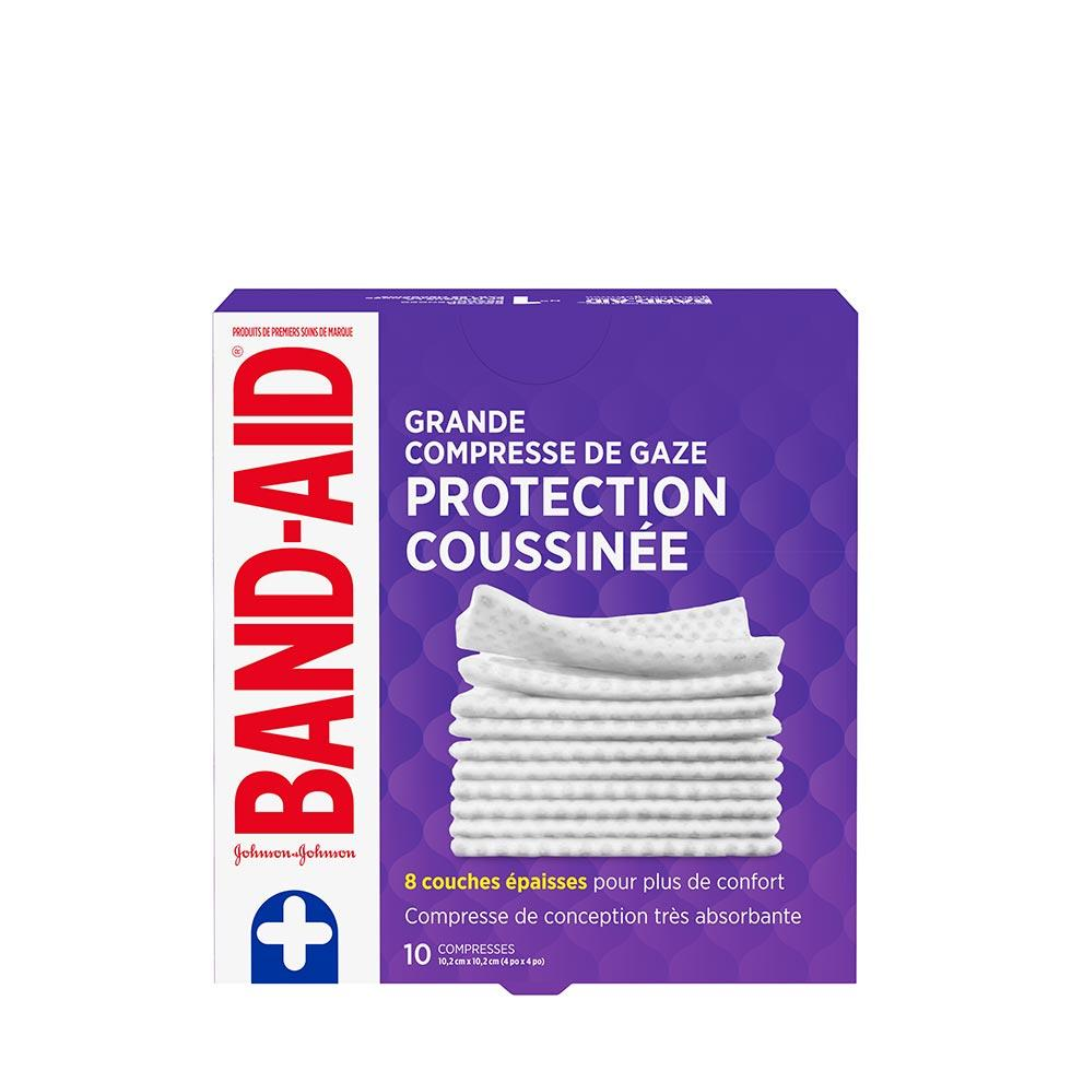 paquet de 10 grandes compresses de gaze band-aid