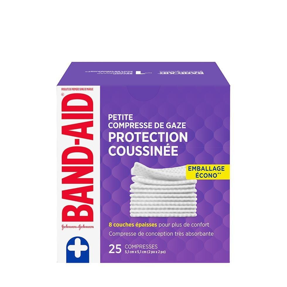 emballage écono de 25 petites compresses de gaze band-aid