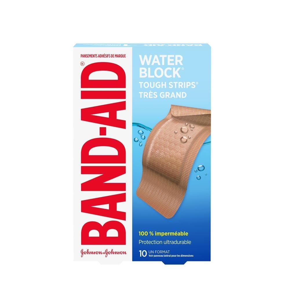 très grands pansements band-aid water block
