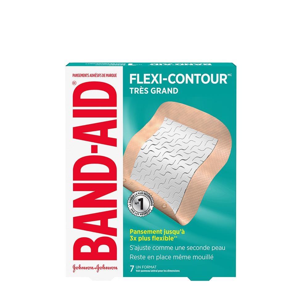 Pansements BAND-AID ® FLEXI-CONTOURMC, très grands, sèchent rapidement