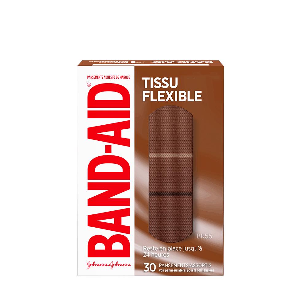 Boîte de pansements BAND-AID® Tissu flexible, BR55, 30 pansements assortis