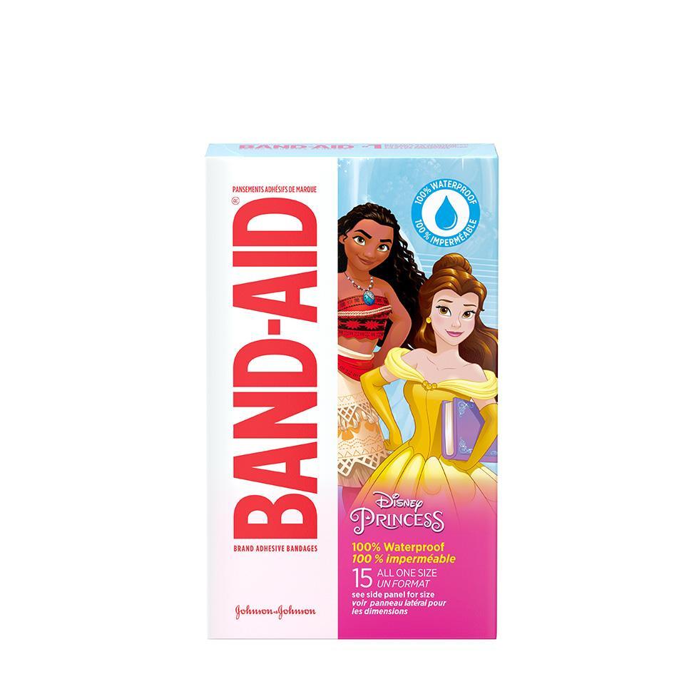 Pansement adhésifs imperméables de marque BAND-AID® à motifs de princesses Disney, 15 u.