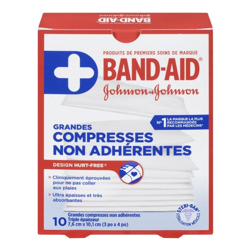 Grandes compresses non adhérentes BAND-AID® HURT-FREE®