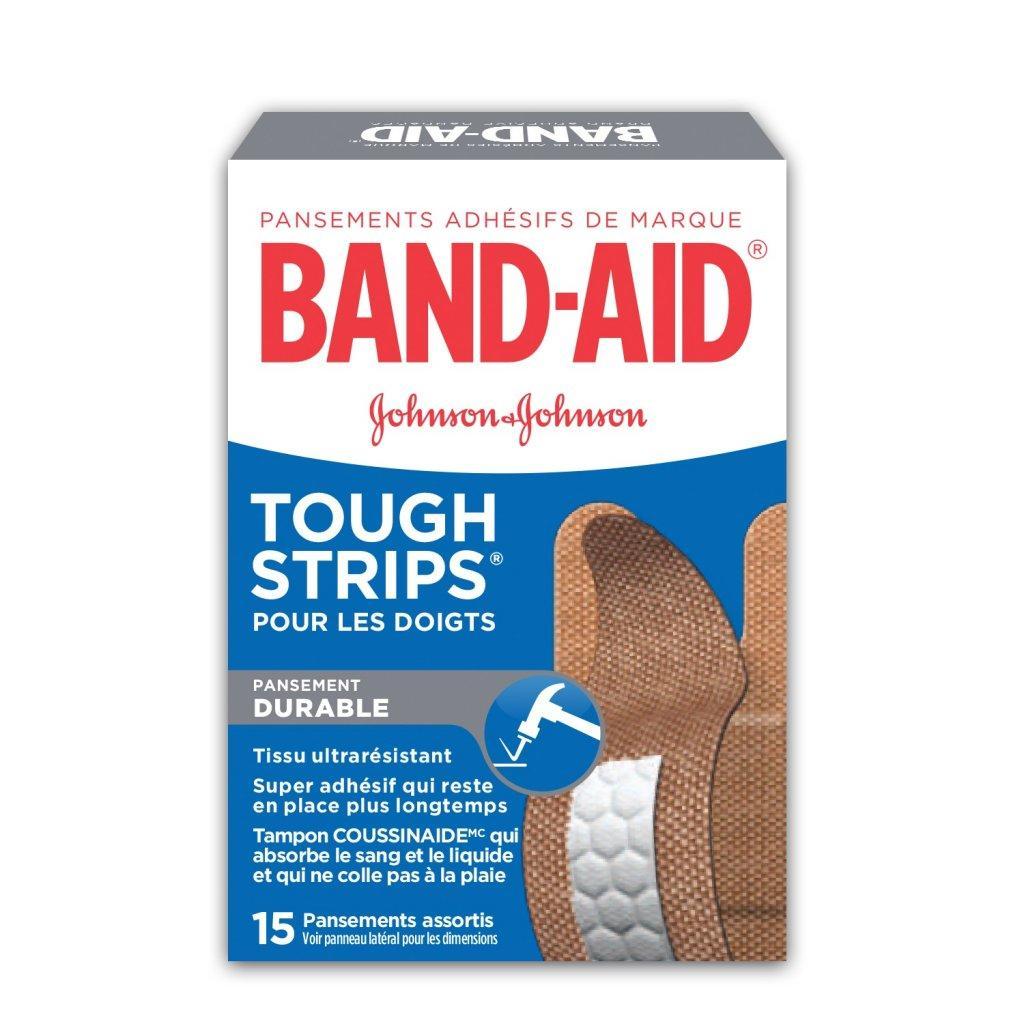 Pansements résistants BAND-AID® TOUGH STRIPS® pour les doigts