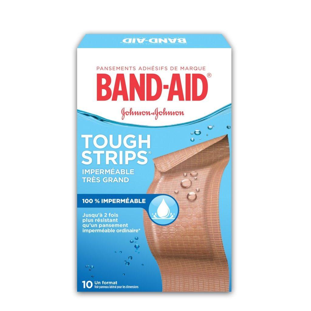 Pansements imperméables BAND-AID® TOUGH STRIPS®, très grands