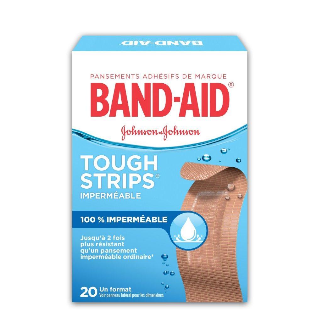 Pansements imperméables BAND-AID® TOUGH STRIPS®