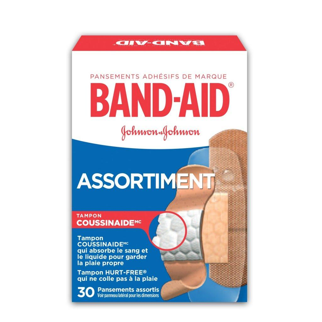 Assortiment BAND-AID®, boîte de pansements assortis