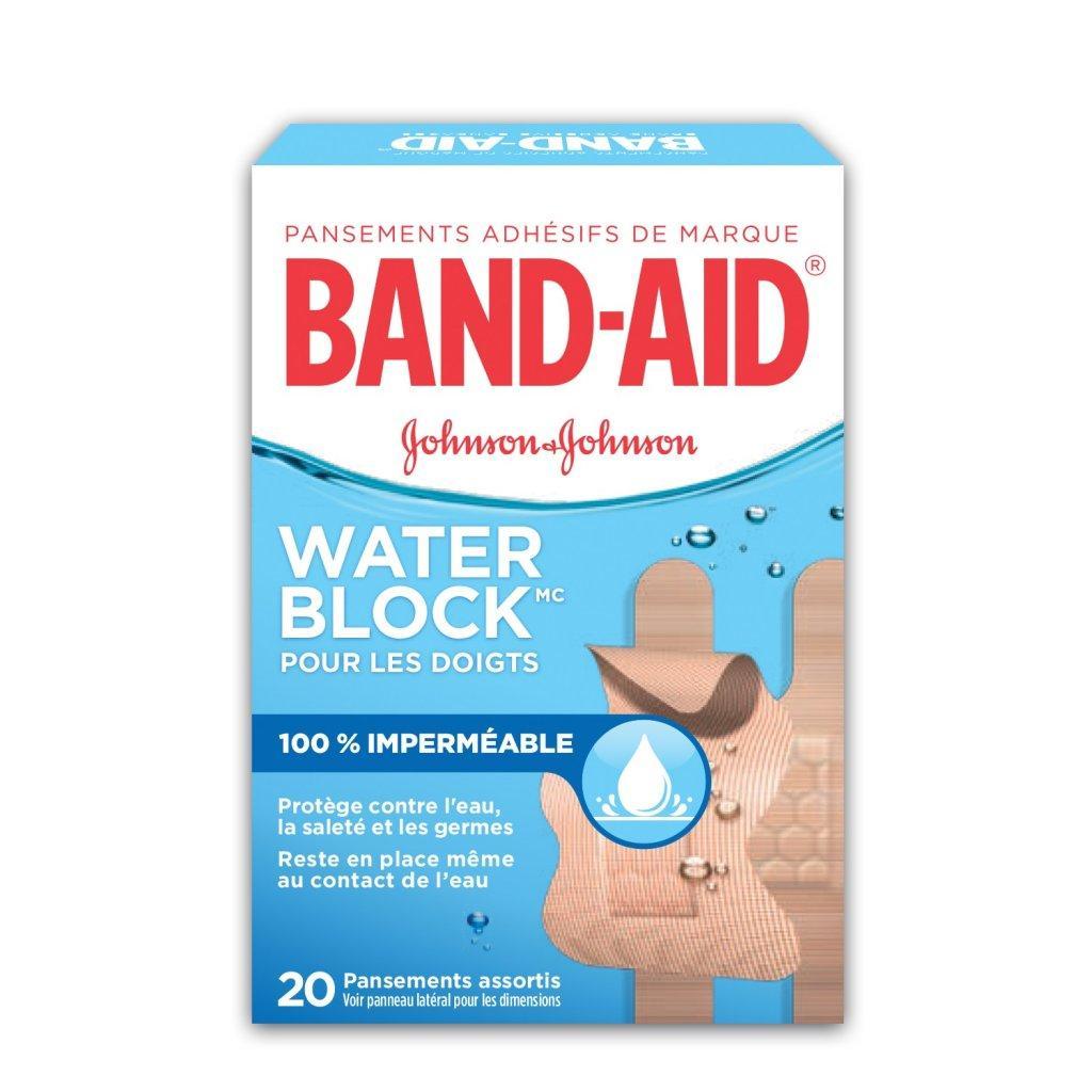 Pansements imperméables BAND-AID® WATER BLOCK PLUS® pour les doigts