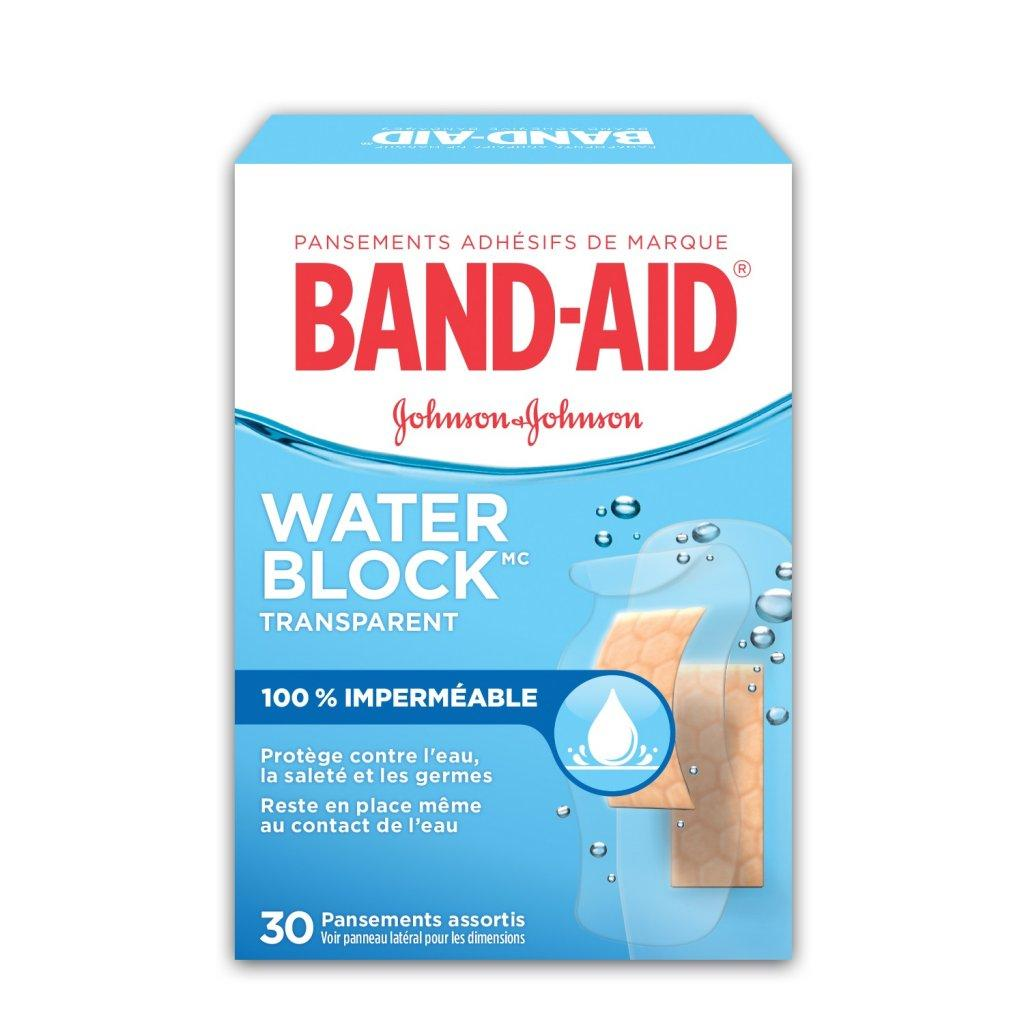 Pansements adhésifs imperméables BAND-AID® WATER BLOCK PLUS®, boîte de pansements assortis
